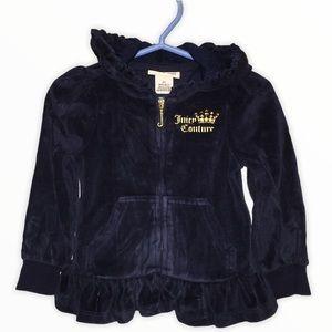 Juicy Couture Navy Blue Velour Jacket 2T